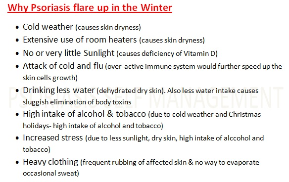 Why Psoriasis flare up during the Winter
