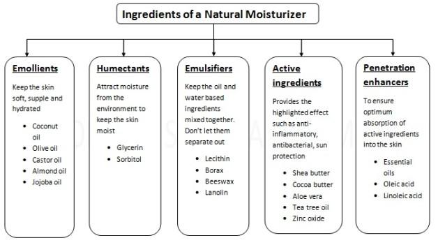 ingredients of a natural skin moisturizer 2