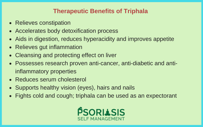 Triphala Amla Haritaki Bibhitaki Psoriasis Psoriatic arthritis