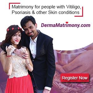 Vitiligo leucoderma Psoriasis matrimony brides grooms